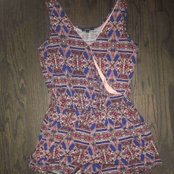 Ambiance Other - Print wrap romper